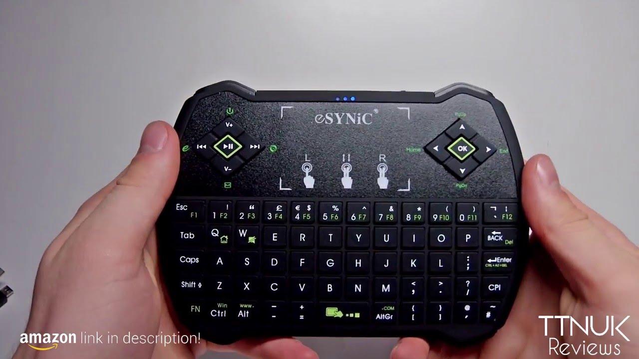 c86f251c625 Wireless QWERTY keyboard, ESYNiC 2.4G Mini Wireless Touchpad Keyboard