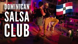 Social Salsa Dancing At  A Salsa Club In The Dominican Republic