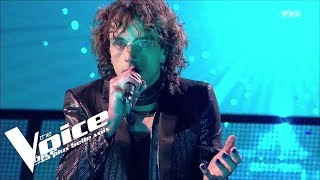 Christophe  - Les mots bleus | Xam Hurricane | The Voice 2018 | Lives