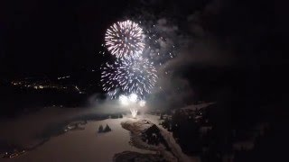 Firework From A Drone in 4K I Valbella 2016