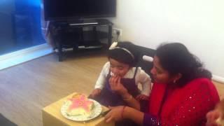 lasya gugu cake cutting on 2nd bday