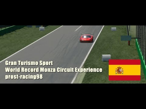 GT Sport | prost-racing98 WORLD RECORD Circuit Experience Ferrari 458 GT3 @ Monza 1:45.488