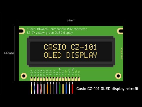 Casio CZ-101 Synthesizer OLED Display Retrofit/repair/replacement