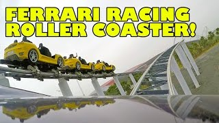 Fiorano GT Challenge Racing Roller Coaster Front Seat POV Ferrari World Abu Dhabi UAE