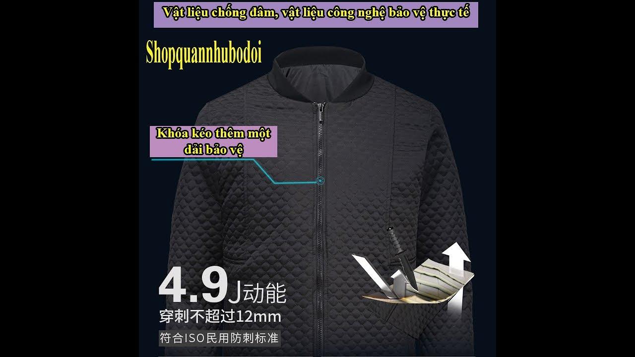 Video test áo khoác chống đâm, chém, áo giáp chống dao vật liệu mới