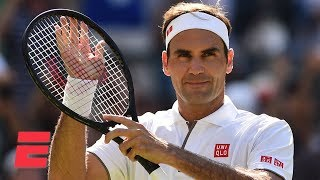 Roger Federer advances to 3rd round in straight sets vs. Jay Clarke | 2019 Wimbledon Highlights