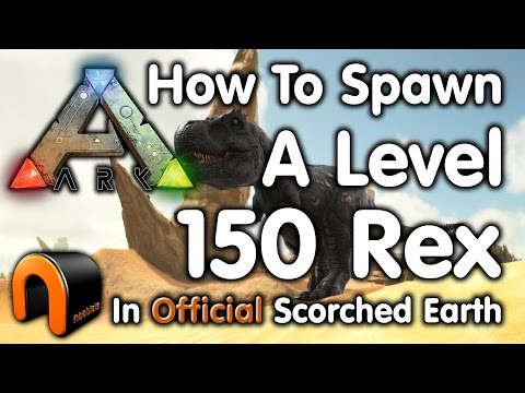 Ark - HOW TO SPAWN A HIGH LEVEL T-REX!
