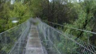 Suspended Foot Bridge Over Kelsey Creek