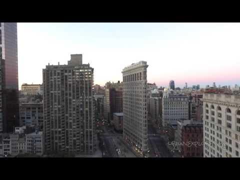 NYC Skyline Flatiron Building - drone phantom 3 quadcopter