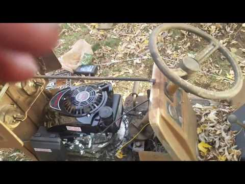 Riding tractor repower Harbor Freight Predator engine SHE'S ALIVE!