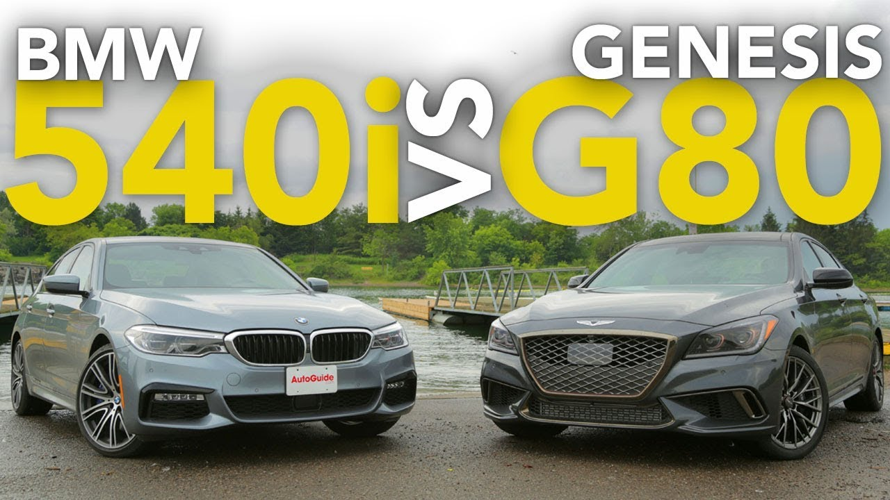 2017 Bmw 540i Vs Genesis G80 Sport Luxury Sedan Comparison Youtube