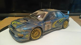 Tamiya 1/24 SUBARU IMPREZA WRC 1999 BUILD LOG SLIDESHOW.