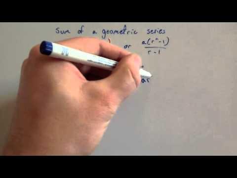 Proof of Sum of a Geometric Series - Corbettmaths