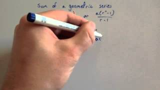 Proof of Sum of a Geometric Series - Corbettmaths