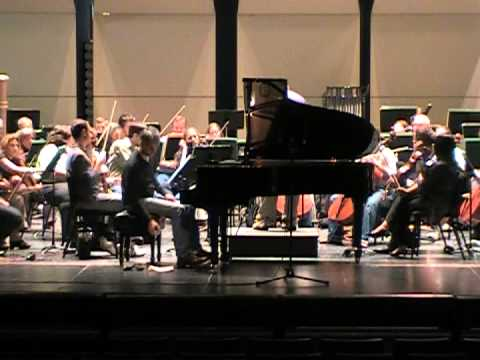 Gregory Knight in rehearsal with the Western Piedmont Symphony on October 7, 2010
