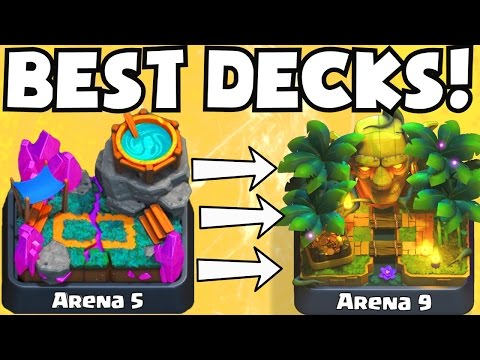 Clash Royale BEST ARENA 5 ARENA 9 DECKS UNDEFEATED | BEST ATTACK STRATEGY GAMEPLAY TIPS F2P PLAYERS