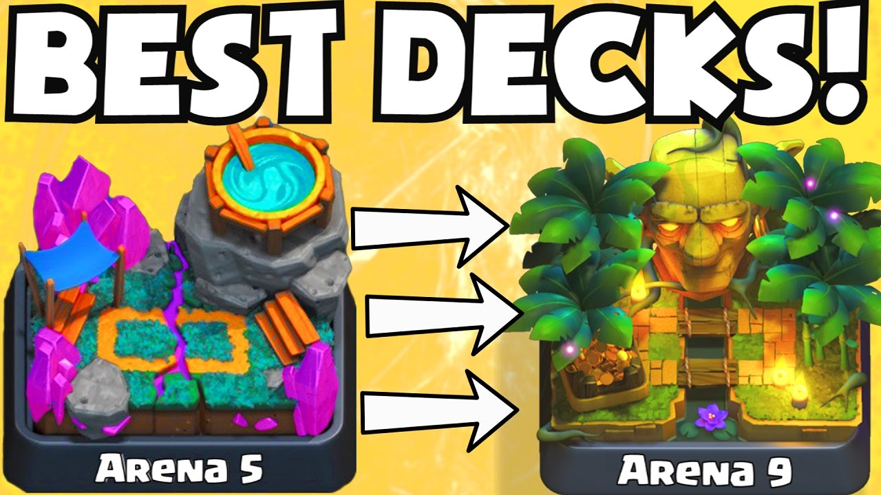 Clash Royale BEST ARENA 5 ARENA 9 DECKS UNDEFEATED