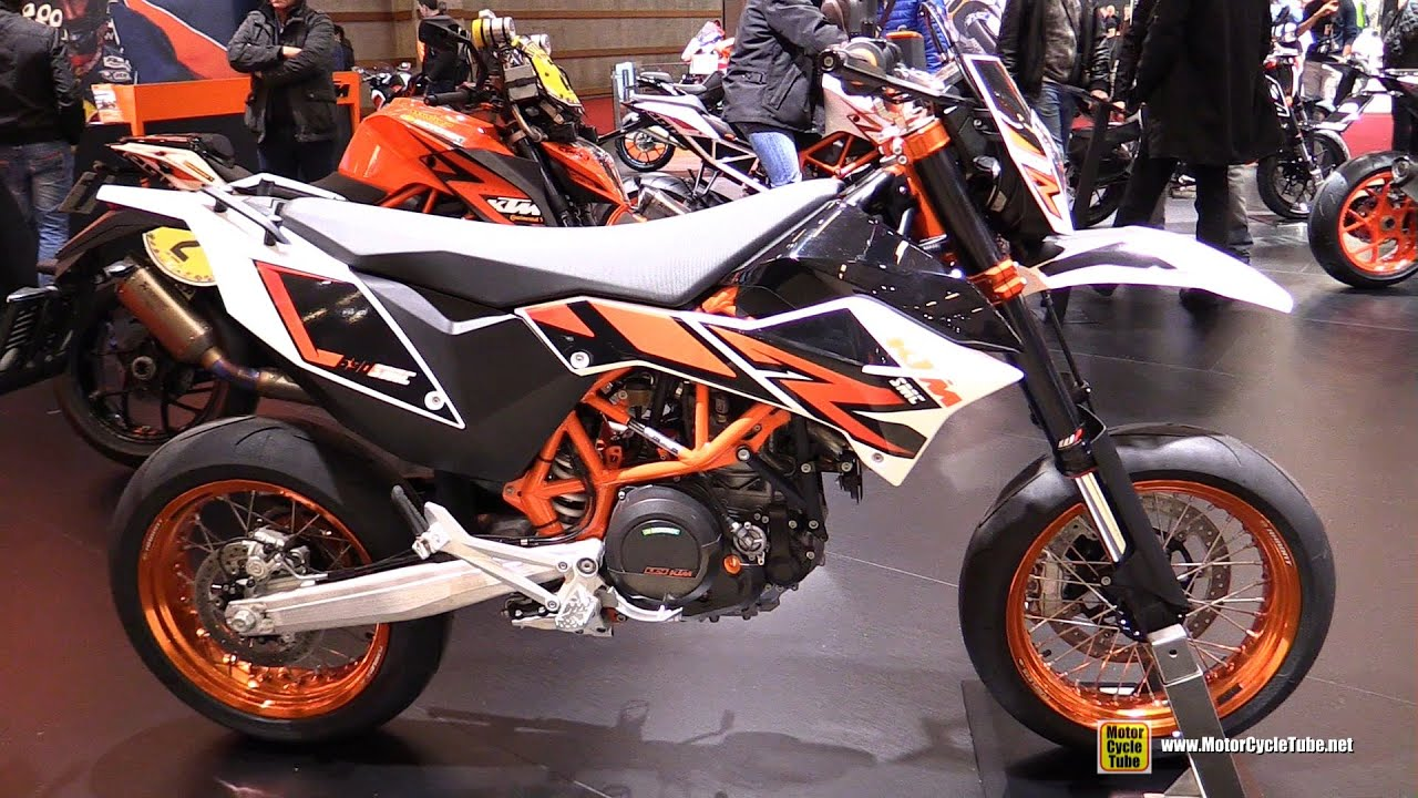 2016 ktm 690 smc r walkaround 2015 salon de la moto paris youtube. Black Bedroom Furniture Sets. Home Design Ideas