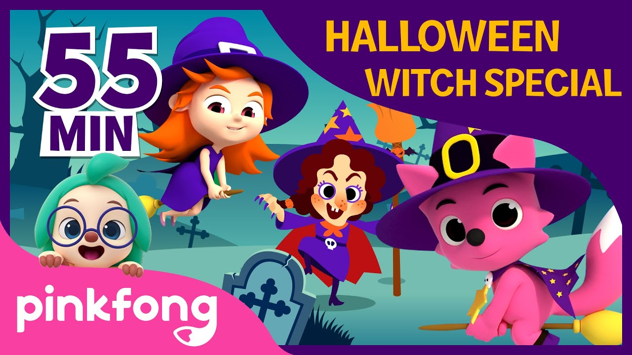 Halloween Witch Special | +Compilation | Halloween Songs | Pinkfong Songs for Children