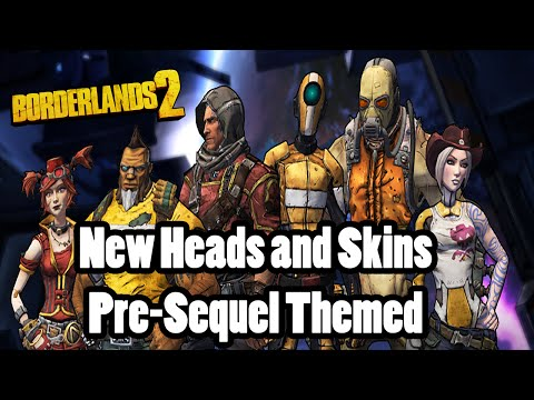 Borderlands 2: New PreSequel Themed Heads and Skins - Man of