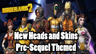 Borderlands New Presequel Themed Heads And Skins