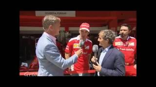 Jean Eric Vergne, Alain Prost and David Coulthard discuss the situation at Ferrari. Spanish GP 2016