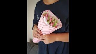 Букет из зефирных тюльпанов (подробное видео)
