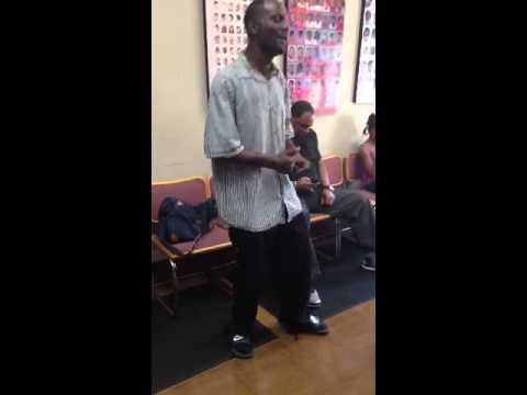 Barbershop guy singing king hyphen
