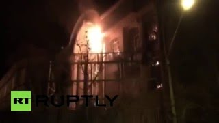 RAW: Furious protesters set fire to Saudi embassy in Tehran