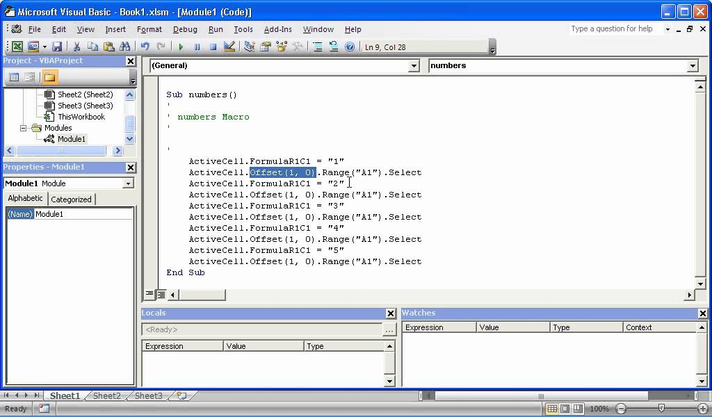 Use The Offset Property In Excel Vba