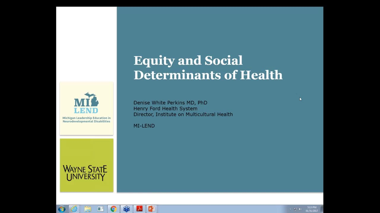 MI-LEND Video Resource: Equity and Social Determinants of Health (Week 4)
