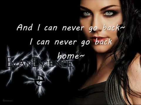Evanescence Never Go Back lyrics