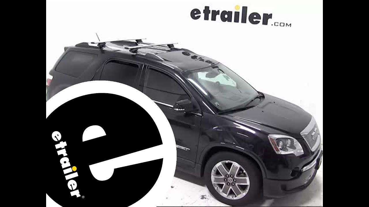 Awesome Installation Of The Thule AeroBlade Crossroad Roof Rack On A 2012 GMC Acadia    Etrailer.com