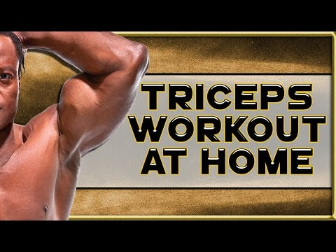 ULTIMATE Triceps Workout at Home, here's how the PROs do it! - No Gym? No Problem!