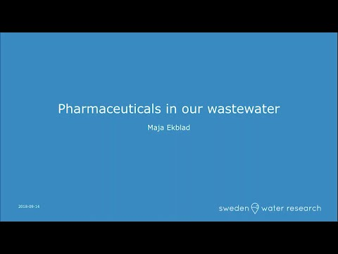 Pharmaceuticals In Our Waste Water