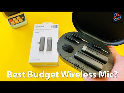 BEST BUDGET WIRELESS MIC? Boya BY-WM3D Review