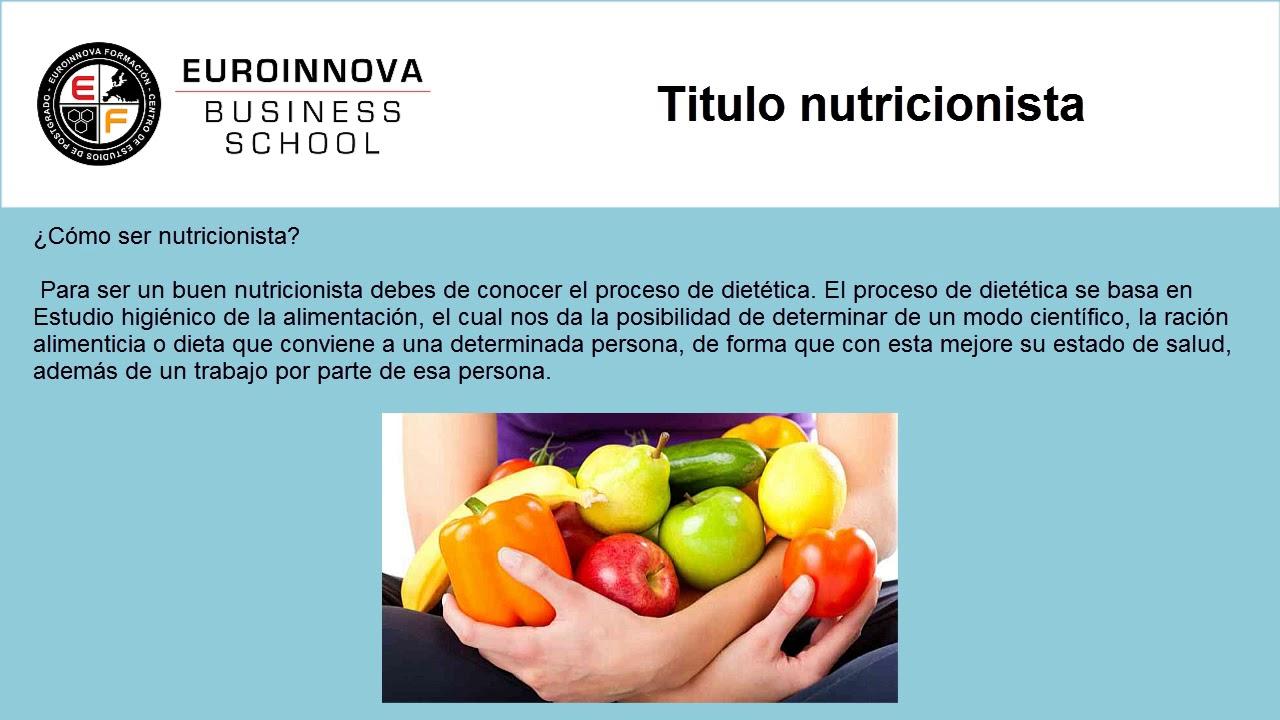 qué universidades dan una nutrición adecuada y un grado de dietista