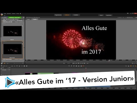 Pinnacle Studio 20 Titel aus der Mitte animiert   Alles Gute im 2017 Version Junior Video Tutorial
