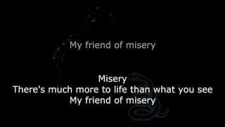 Metallica - My Friend Of Misery Lyrics (HD)