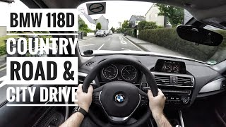 BMW 118d (2017) - POV Country Road and City Drive
