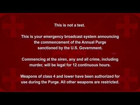 The Purge - Election Year Announcement HD [original voice]