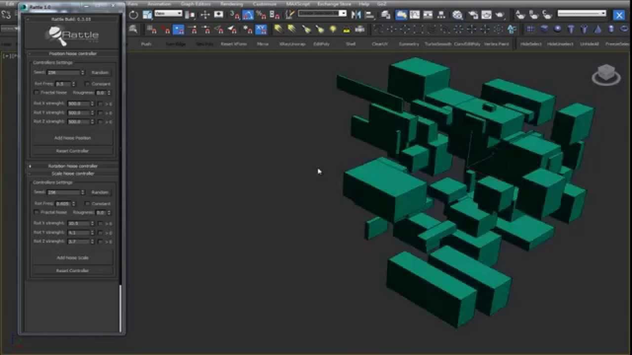 Rattle v1 0 - Parametric Noise Generator 3ds Max Script