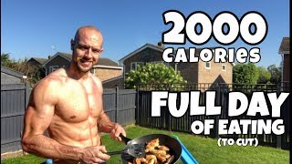 FULL DAY OF EATING | 2000 calories | CUTTING | Intermittent fasting
