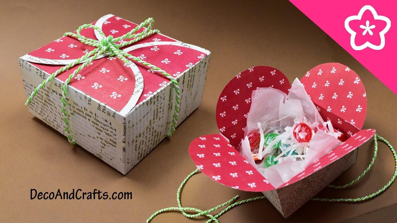 Cajita de regalo con cartulina para esta navidad un - Como hacer cajitas de cartulina ...