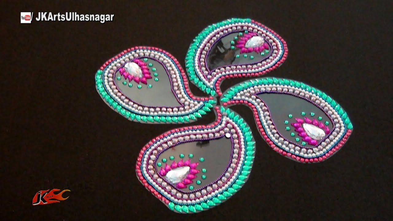 Papercraft Kundan Rangoli Design Idea | Jk Craft Ideas 087