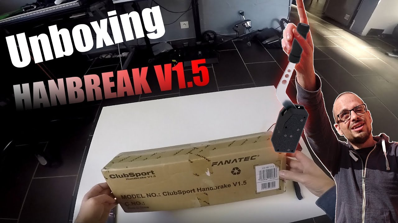fanatec handbrake v1 5 unboxing fr frein a main ps4 xbox one youtube. Black Bedroom Furniture Sets. Home Design Ideas