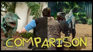 Jurassic World Trailer - Homemade Side by Side Comparison thumbnail