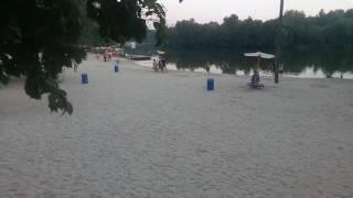 База отдыха «НКМЗ». Вид на пляж с кафе «Мохито».