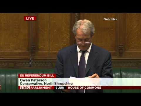 Owen Paterson on EU Referendum Bill (09 Jun 15)