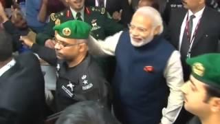 PM Modi meets with L&T workers in Riyadh, Saudi Arabia